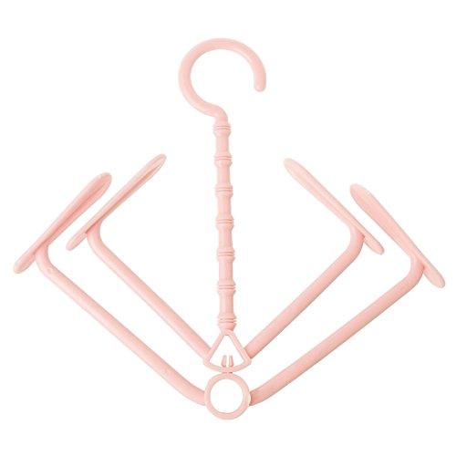 Kofun Shoes Dry Holder Rack Hanger Windproof Laundry Hanging Home Closet Organizer 1 confezione rosa Rosa