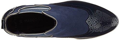 Marco Tozzi 25403, Bottes Chelsea Femme Bleu (Navy Comb)