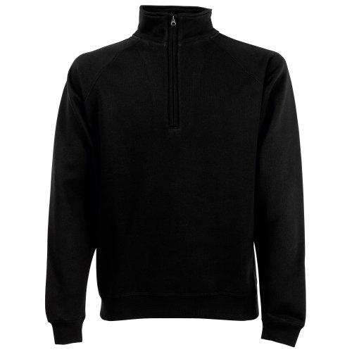 Fruit Of The Loom Sweatshirt / Pullover mit Reißverschluss Black