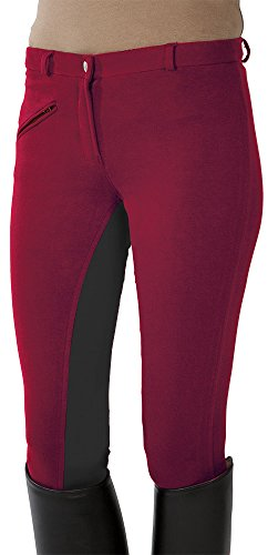 PFIFF Kinder Reithose Vollbesatzhose, Rot (Red/Gray)4242