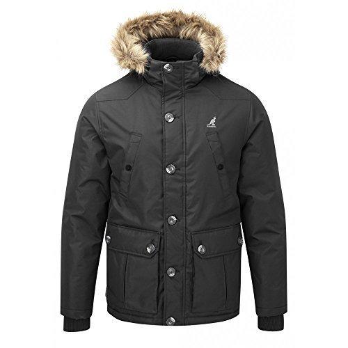 Kangol Herren Kingsize Big Größe gesteppt gepolstert Fashion Parka Winter Jacke Mantel 2X L, 3X L, 4X L, 5X L, Schwarz (Jacke And Big Kingsize-mens Tall)