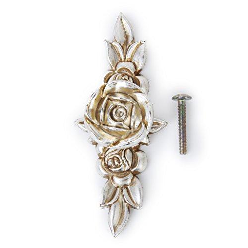Antico Maniglie Manopola 103mm Argento Rosa per
