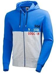 Helly Hansen Graphic Fz Hoodie - Sudadera con capucha para hombre, color azul, talla XL