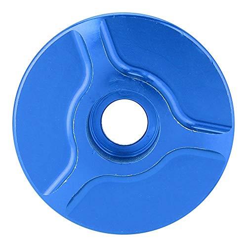 Effacer 4 Farben MountainRoad Fahrrad Handgelenk Set Top Cover Griff Block Aluminium ohne Gewinde Gabel Schüssel Abdeckung (Blau)