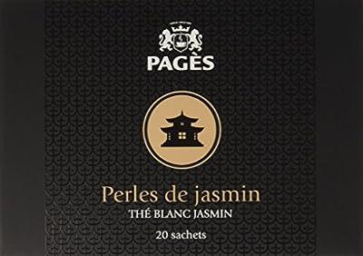 PAGÈS Thé Blanc Jasmin Perles de Jasmin 20 Sachets 40 g - Lot de 4