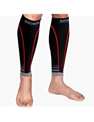 1 Pair Calf Compression Sleeves Men Women Leg Support Sleeve Socks, Runners Shin Guards Sleeves for Running, Shin Splint and Calf Pain Relief, Boost Circulation and Recovery
