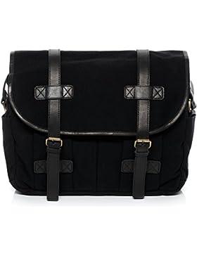 SID & VAIN® Messenger bag CHASE - Unisex Umhängetasche groß Ledertasche fit für 15.4