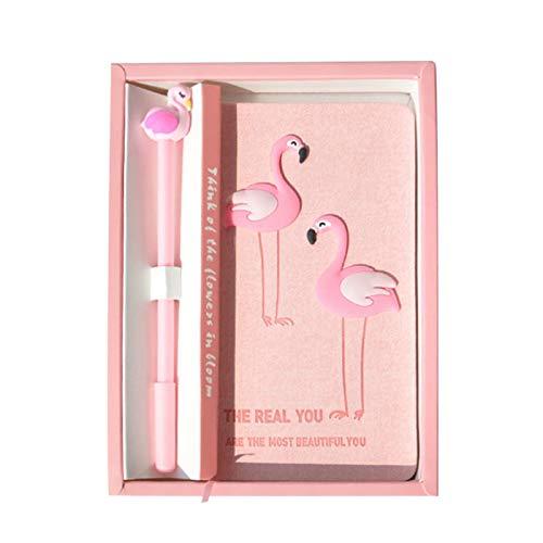 (Notizbuch mit rosa Flamingos, für Studenten, mit Stift, tolles Geburtstagsgeschenk für Mädchen Double flamingos)