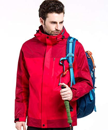 AIKOSHA Herren 3 In 1 Wasserdichte Outdoor Regenjacke Wandern Jagd Klettern Outwear