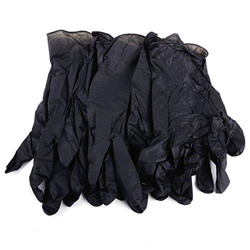 50 Paar XL-Größe Reinigung Einweg-Handschuhe Mechaniker-Handschuh Schwarzes Nitril Antistatik-Handschuhe (Xl-antistatik-handschuhe)