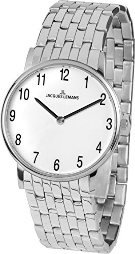 Jacques Lemans Women's Quartz Watch with Silver Vienna Analogue Quartz Stainless Steel 11849°F