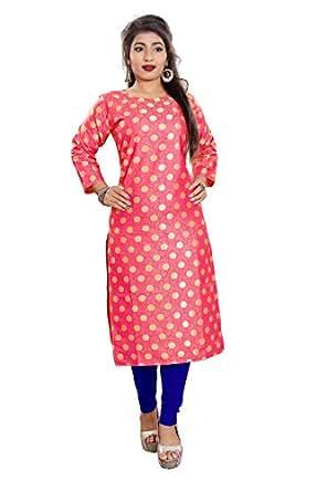 ed616a50e81b Platinum Cotton   Crush Saree (PLT R010 PINK Pink Free Size)  Amazon ...