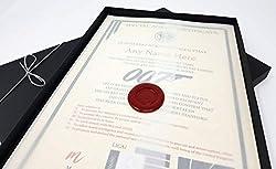 Deluxe James Bond 007Zertifikat in einer Luxus-Geschenk-Box-personalisierbar mit der Namen Ihrer Wahl