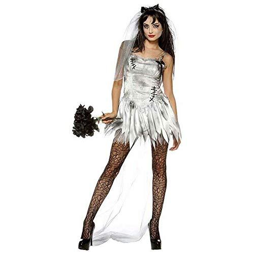 Duuozy Frauen Atemberaubende Braut Kostüme Maskerade Performance Uniformen Vampir Dämon Cosplay M, L, - Dämon Braut Kostüm