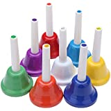 ammoon Campanilla Campanas 8-Note Metal Colorido los Niños del Cabrito Juguete Musical Instrumento de Percusión