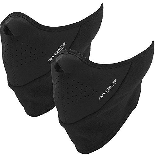 Oramics Sport - 2-er SET UNIVERSALE Thermo-Gesichtsmaske - Sturmhaube, Nackenwärmer und Halstuch in Einem - Kälteschutz für Ski, Quad, Snowboard, Fahrrad, Motorrad