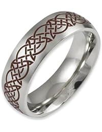 Herr der Ringe Jewelry Unisex-Ring Edelstahl  rot 1022
