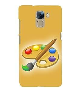 PrintVisa Animated Colors 3D Hard Polycarbonate Designer Back Case Cover for Huawei Honor 7 :: Huawei Honor 7 Enhanced Edition :: Huawei Honor 7 Dual SIM