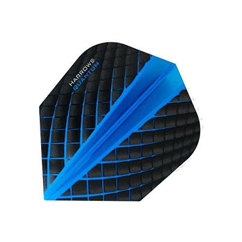 HARROWS Quantum Dart Flights 3D Effekt-100Mikron-Standard Form-Dunkelblau-5sets (15) - Standard Form 100