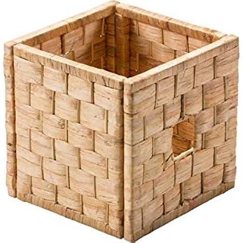 Giacinto d' Acqua intrecciato cubo–Cestino portaoggetti grande