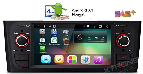 """XTRONS 6,1"""" Touch Screen Autoradio mit Android 7.1 Quad-Core Autostereo unterstützt 3G 4G RCA Bluetooth5.0 Auto Musik Streaming 16GB ROM DAB & OBD2 TPMS FÜR FIAT"""