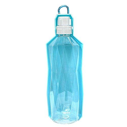 Eshall Hund Wasserflasche, tragbar Haustier Trinkflasche für Hunde und Katze, - Geschirrspüler Desinfizieren
