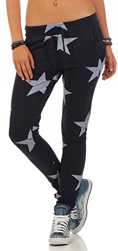 Mr. Shine Damen Sweatpants Baggy Hose Boyfriendhose Freizeithose Jogginghose Fitness Sporthose Yogapants Jogger Loose Fit Big Star S-XXXL (XL, Navy Blau)