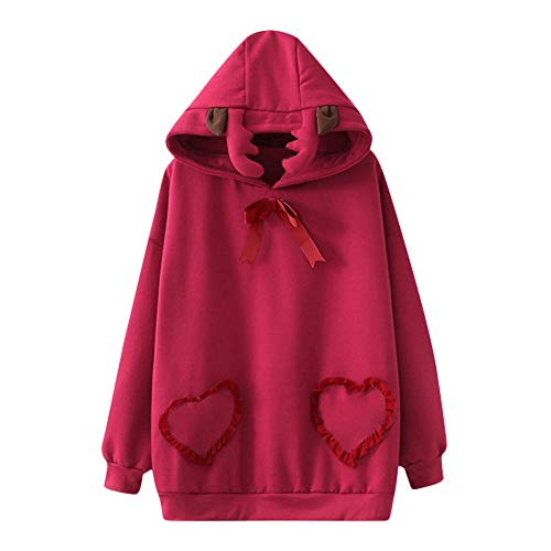 TianWlio Jacken Parka Mäntel Herbst Winter Warme Jacken Strickjacken Damen Mäntel Weihnachts Beiläufiges Festes Langärmliges Pullover Blusen Hemd Sweatshirt XXL