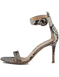 JUWOJIA Sandalen Frauen Top Sommer Square High Heel Party Schuhe Frau
