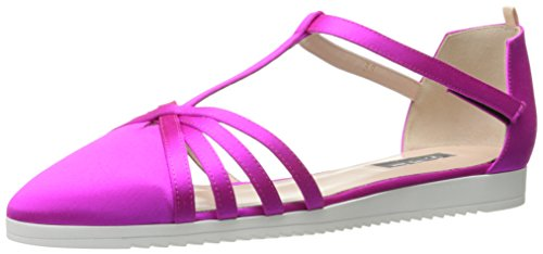 SJP by Sarah Jessica Parker Women's Meteor Closed Toe Ankle Strap Flat, Candy, 40 M EU (9.5 US) -