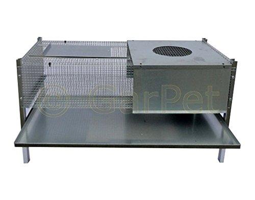 Küken Aufzucht Wärme Box Heim Metall Aufzuchtbox 100x50x50 für 50-60 Küken - 3