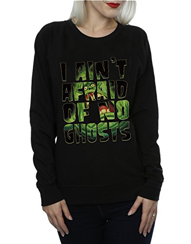 Ghostbusters Femme Slimer I Ain't Afraid Of No Ghosts Sweat-Shirt Noir