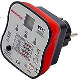 Multimerix Arnoux MMXP06230304 Testeur de prise 2 pôles + terre et différentiel, Rouge