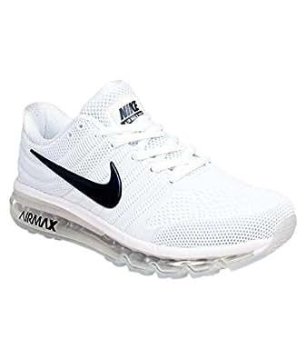 top fashion dade7 b0214 Nike AIR MAX 2017 Mens White Running Sports Shoes 849560-010 ...