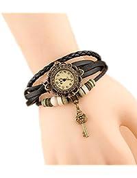 Westeng Pulsera del Reloj Retro Clave Colgante de Cuarzo Reloj de Pulsera Mujeres Accesorios de Moda