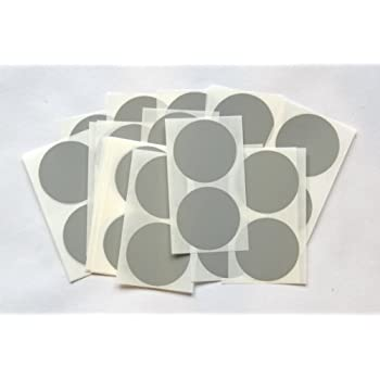 50 grey round stickers sticky coloured self adhesive labels for colour coding