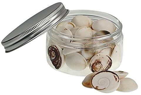 Muscheln ausgewählte Qualität - Silvermouth Muscheln: Turbo argyrostomus - Muscheln für Seemuschel Vasen, Boxen, Bilderrahmen, Schmuckherstellung & Mini Garten Miniatur