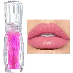 GL-Turelifes Lip Plumper Gloss Couleur Légère Rouge à Lèvres, Baume à Lèvres Repulpant Traitement - Brillant à Lèvres Clair - Renforcer les Lèvres Hydratées, Hydrater (#5)
