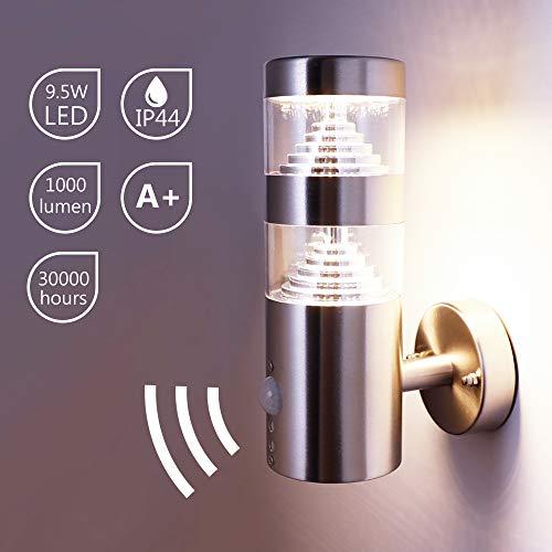 LED-Außenwandleuchte iHF silber,