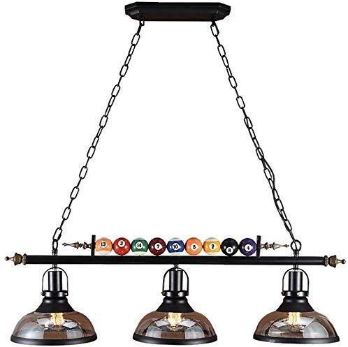 Kronleuchter Drei industrielle Kronleuchter Jahrgang Kronleuchter LED-Lüster Billardkugel Pendel kreative Restaurant Kronleuchter dekoriert Dachboden Treppenbeleuchtung Haushaltsbeleuchtung, stilvoll