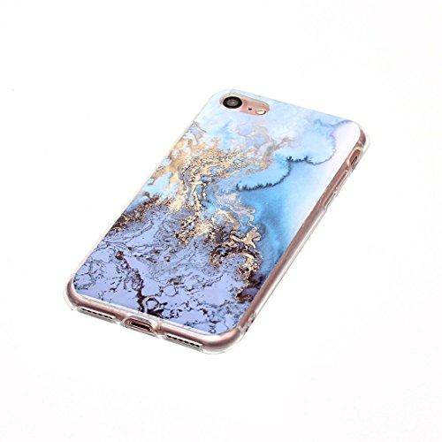 Wkae Blaues Marmormuster Weicher TPU Schutzhülle für iPhone 7 ( SKU : Ip7g1209c ) Ip7g1209a