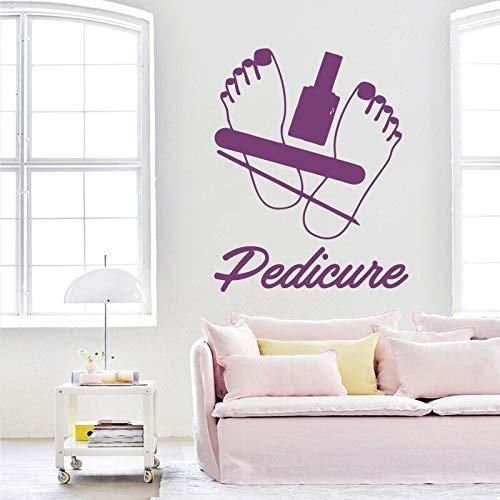 Deluxe-shop Schreibtisch (Pediküre Schönheitssalon Wandaufkleber Nägel Kunst Polnischen Wandtattoo Vinyl Nagel Shop Wand Fenster Kunstwand Pediküre Logo Decor 57 * 71 cm)