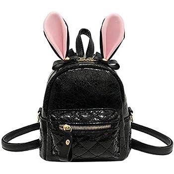 acdffd43d01 Onemoret oreilles de lapin Mini sac à dos femme fille PU Cuir craquelé  adolescent 2018 Sac