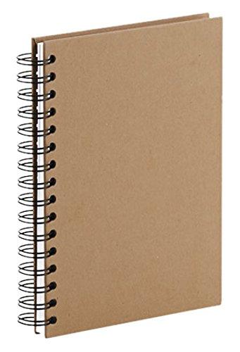 Rössler 1874452621 - S.O.H.O. Wire-O Notizbuch A5, 80 Blatt, kraft