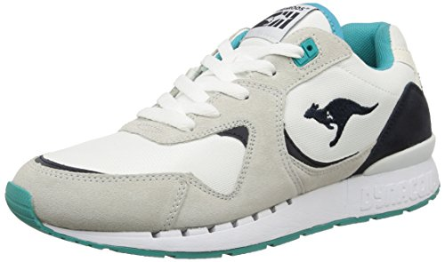 Kangaroos Coil-R2, Baskets mode homme Blanc (White/Smaragd 083)