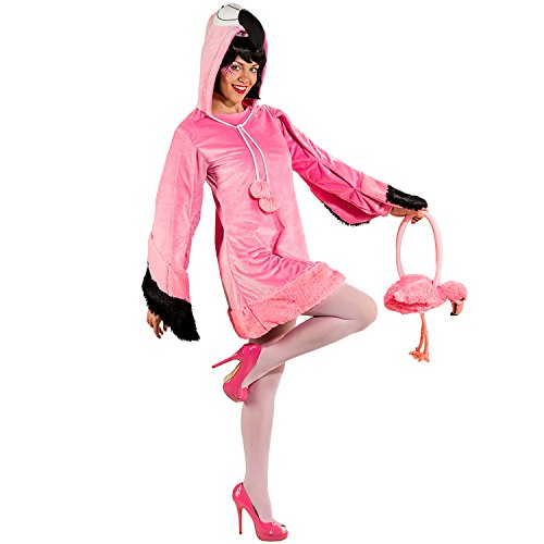 (Orlob Fasching Kostüm Damen Flamingo Kleid (42/44))