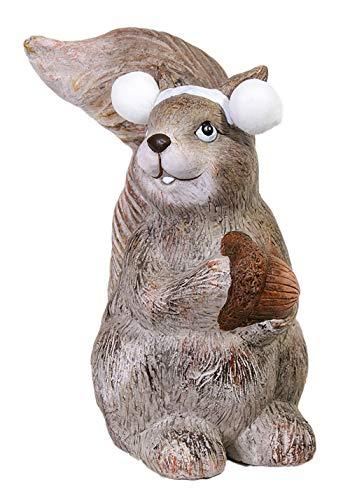 Gilde Figurine écureuil en céramique et regardant à Droite, 25 cm