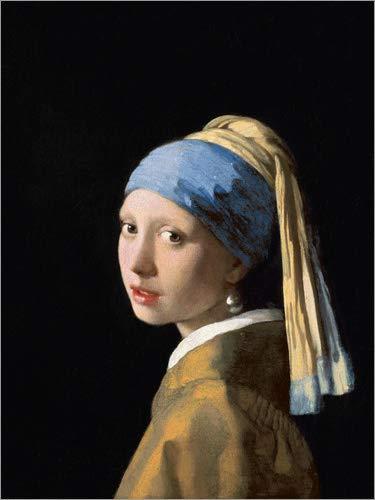 Poster 30 x 40 cm: Mädchen mit dem Perlenohrring von Jan Vermeer - hochwertiger Kunstdruck, neues...