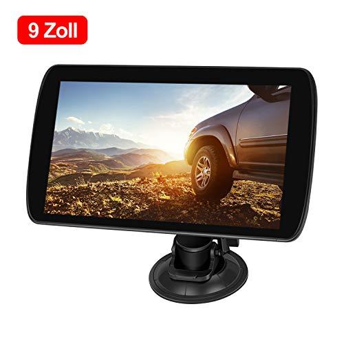ODLICNO Auto Navigation GPS Navi Navigationsgerät 9 Zoll Touchscreen mit Lebenslangen Kostenlosen Kartenupdates 52 EU-Landkarten 2019 für Auto LKW PKW KFZ Taxi Wohnmobil (Mehrsprachig)
