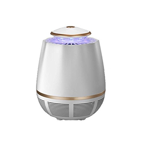 Mosquito Killer Lamp Electronic Bug Zapper Lámpara LED Trap USB Powered Insect Catcher Smart Light Control Para Dormitorio Interior Outdoor,White
